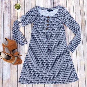 BODEN Dress Print Long Sleeve Buttons